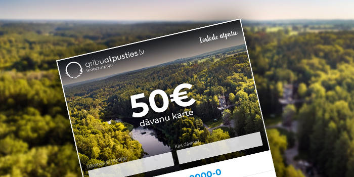 Laimē vienu no četrām 50€ DĀVANU KARTĒM sapņu atpūtai!